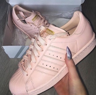 shoes pink peach nude light lightpink rose adidas adidas shoes adidas trainers superstar trainers casual comfy trendy pretty gorgeous light pink shoes adidas superstars adidas orginals adidas originals superstar nude shoes pink shoes