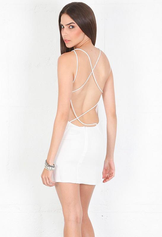 Olcay Gulsen Crossed Back Mini Dress | SINGER22.com