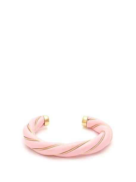 AURELIE BIDERMANN cuff gold pink jewels