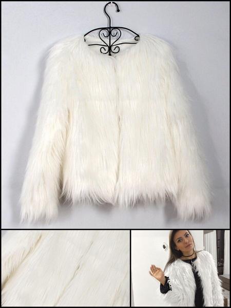 Fabulous Fuzzy Faux Fur Jacket