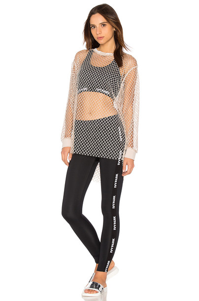 IVY PARK long mesh taupe top