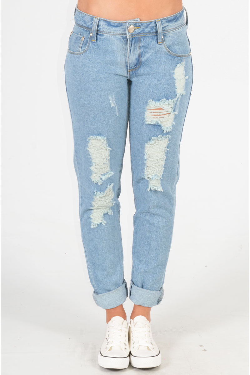 Alvern Distressed Boyfriend Jean