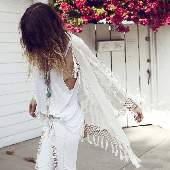open front white cardigan crochet crop top crochet