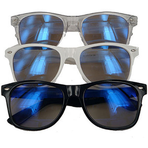 80s retro style fashion clothing & accessories — frogskin wayfarer [blue]