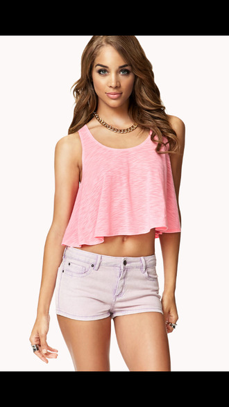 tank top love pink top crop tops crop hipster shorts blue jean shorts