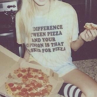 shirt pizza grunge punk pop hip rock