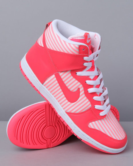 pink white neon neon pink high tops sneakers high top sneaker