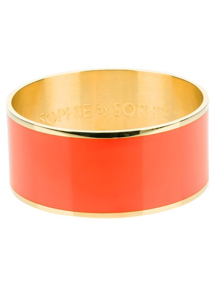 bracelet bangle jewels gold large bangle orange sophie by sophie