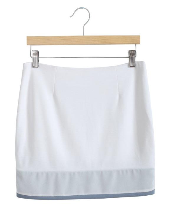 White Asymmetric Bodycon Skirt - Sheinside.com