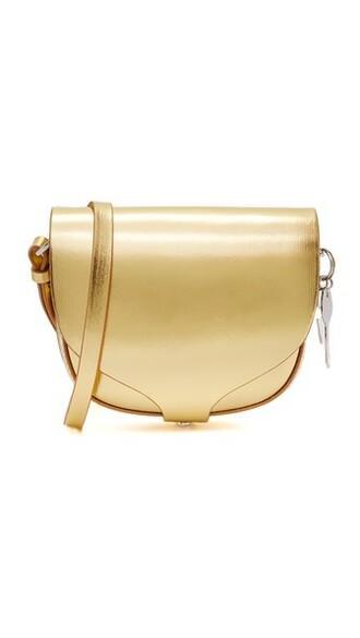 mini metallic bag gold