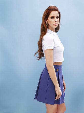 lana del rey blue skirt