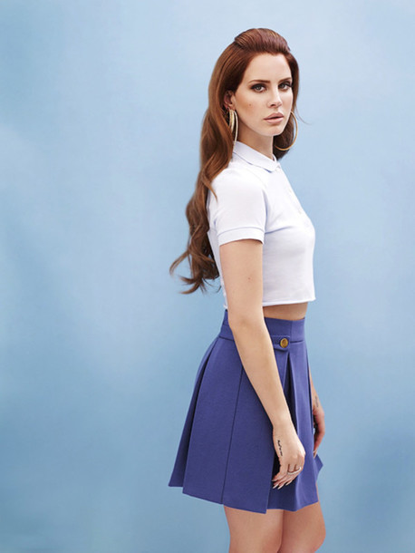 lana del rey blue skirt
