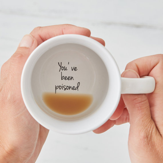 Funny Mugs - Bottom of the Mug Message - Secret Message Mug - Coffee Mug - Unique Coffee Mug - Unique Mugs - christmas gift - secret santa