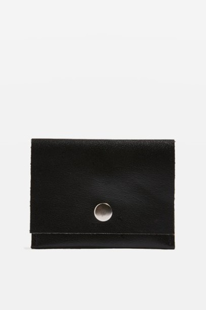 Topshop mini purse leather black bag