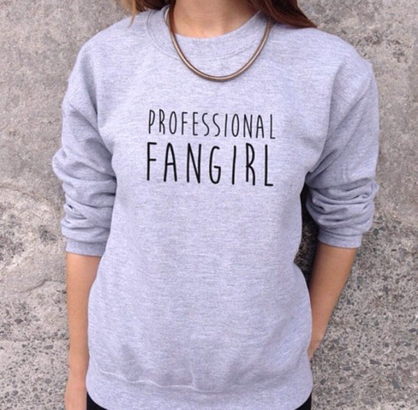 marvel fangirl tumblr shirt tumblr outfit grey book grey sweater necklace totally cute shirt sweater funny quote sweater grey fashion happy easter today style