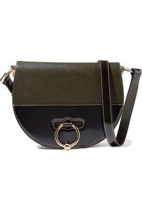 J.w.anderson Woman Latch Smooth And Textured-leather Shoulder Bag Army Green Size --