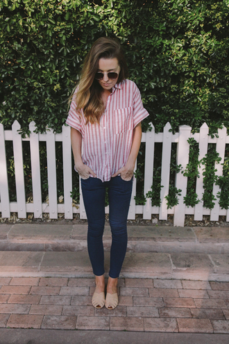 the day book blogger shoes jeans top sunglasses