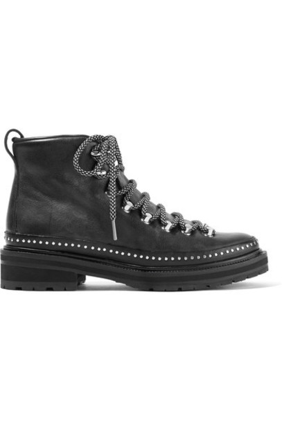 Rag & Bone leather ankle boots studded ankle boots leather black shoes