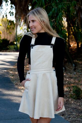 corduroy skirt pinafore shopfashionavenue beige overall dress