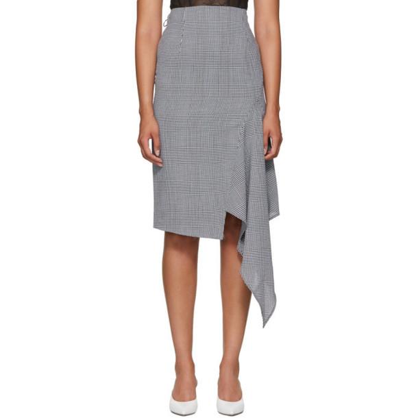 Off-White Black & White Houndstooth Galles Skirt
