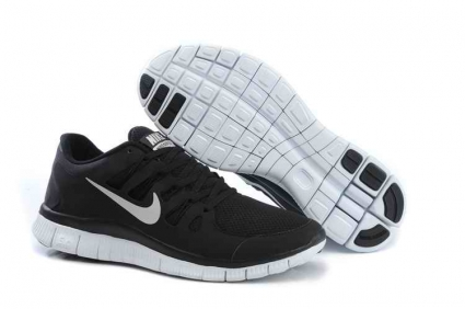 dc1cacc8f NIKE FREE 5.0 Men s Running Shoes - Black White   Nike Free Running Shoes