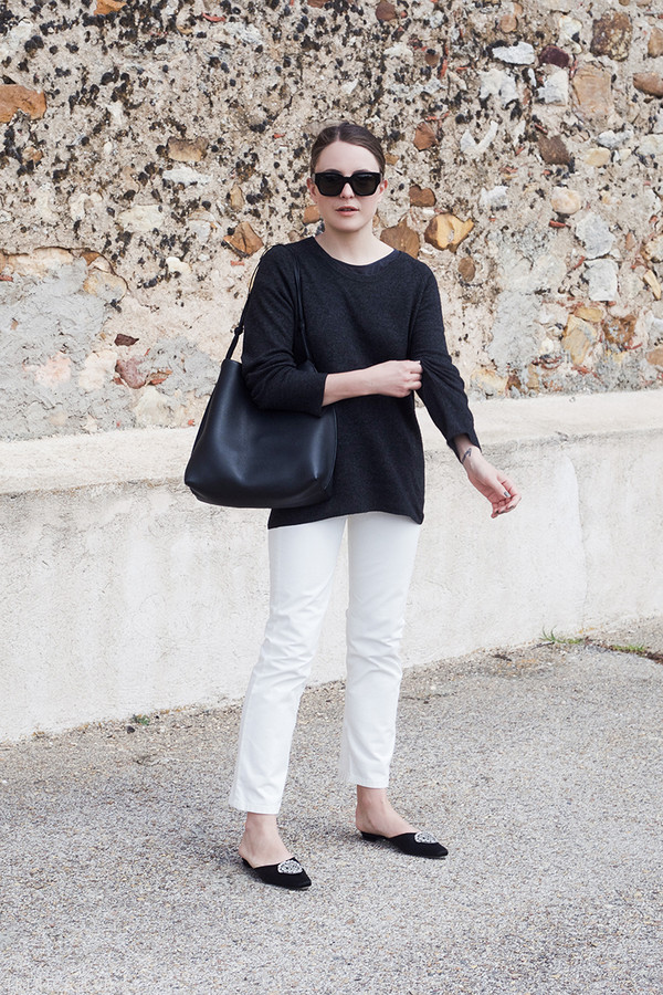 trini blogger sunglasses sweater jeans bag