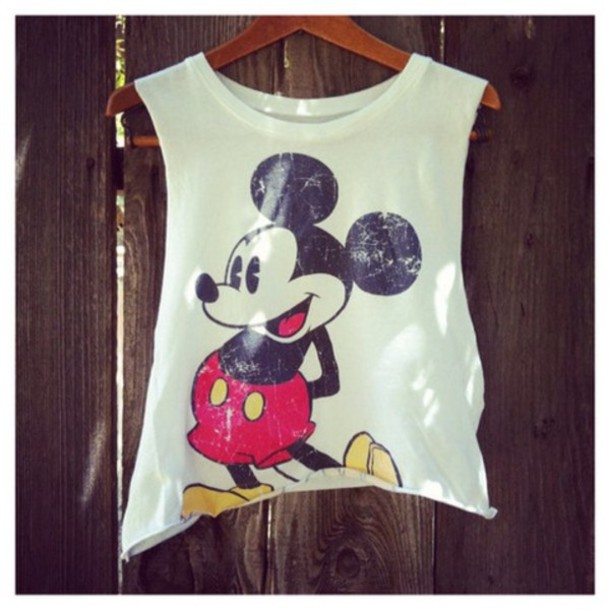 blouse disney black white mickey mouse mickey mouse t-shirt hipster top crop tops grunge