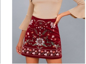 shirt skirt embroidered skirt