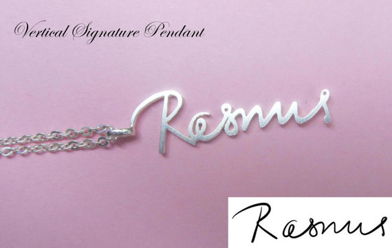 Signature Pendant  Memorial Signature  Mother's day   by Bestyle