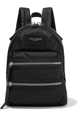 mini shell backpack leather black bag