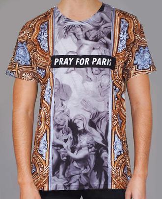 t-shirt clothes pray for paris