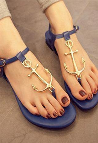 Colored anchors sandals