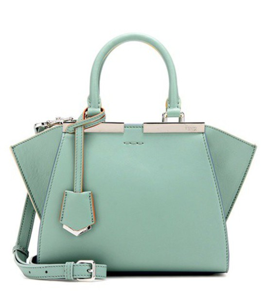 mini leather green bag