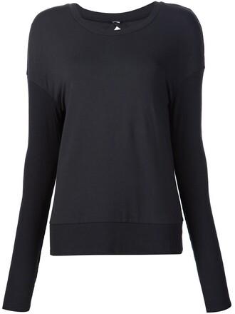 sweatshirt back open open back black sweater