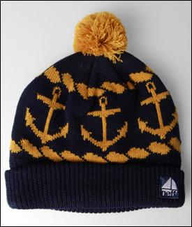 newburycomics.com - Neff Navy Anchors Ahoy Beanie