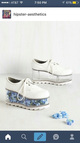 shoes grunge white hipster platform shoes