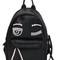 Flirting eye faux leather backpack