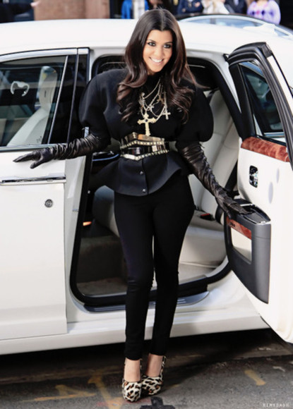 kourtney kardashian jewels blouse coat