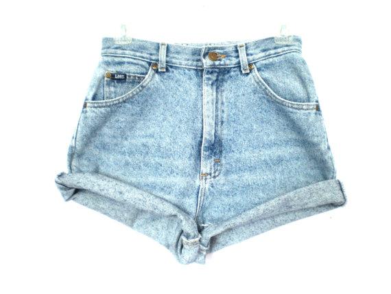 80's Lee acid wash high waist shorts size - S/M ($26.00) - Svpply