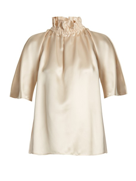 blouse silk satin top