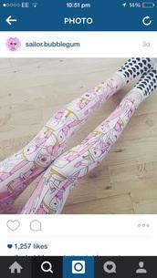 leggings,princess bubblegum,adventure time,pink,kawaii
