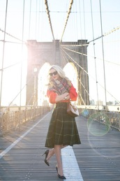 atlantic pacific,blogger,skirt,sweater,shoes,scarf,sunglasses