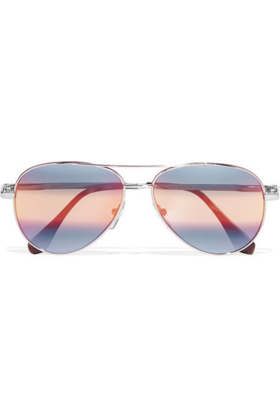 Cutler and Gross style sunglasses mirrored sunglasses silver blue