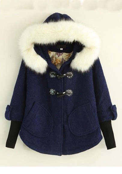 coat fur blue,