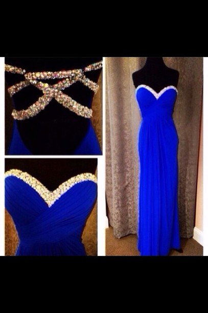 dress royal blue