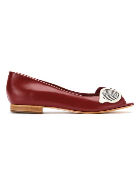 Sarah Chofakian women red shoes