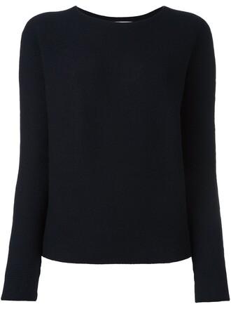 jumper women blue wool sweater