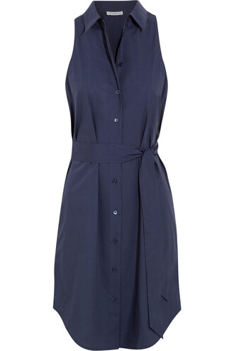 dress shirt dress cotton navy