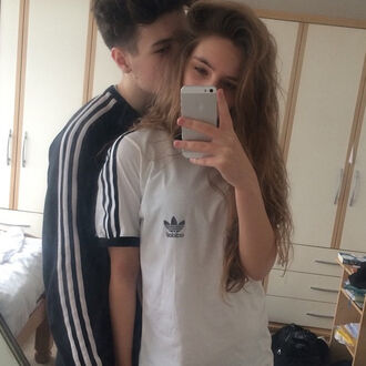 t-shirt adidas skateboard couple trendy outfit retro ootd grunge cool fashion blogger inspiration fitness