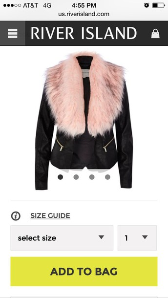 coat pink everything fur river island love